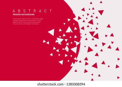 abstract background with broken shapes
