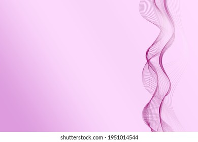 Abstract background with burgundy wave design element with gradient effect on pink backdrop.