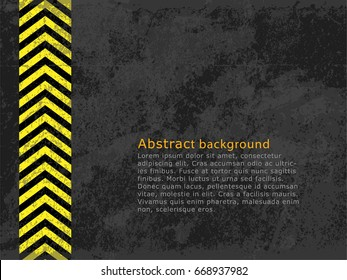 Abstract background, cement and concrete texture wallpaper with tire. Vector illustration design for website template with copy space.