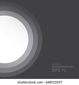 Abstract background, circle on black background, template business design