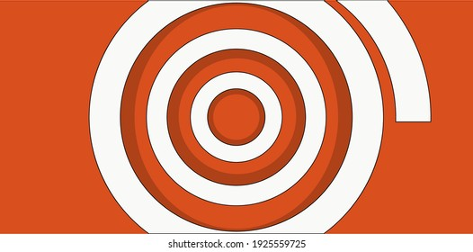 Abstract Background with a Circle. Orange Color. Design for decor, print, wallpaper