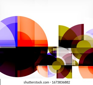 Abstract background, circle and triangle design round shapes overlapping each other. Geometric trendy template. Vector Illustration For Wallpaper, Banner, Background, Card, Book Illustration, landing