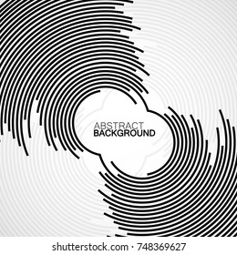 Abstract background of circles with lines, technology backdrop, geometric shapes, vector illustration, eps 10