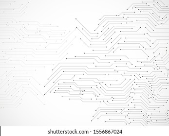 Abstract background with circuit board, technology background. Vector illustration