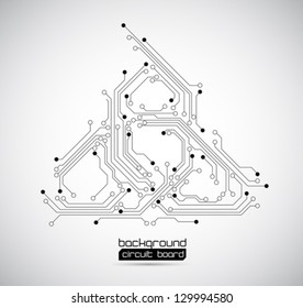 abstract background circuit board - vector