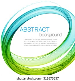 Abstract background with color ellipses