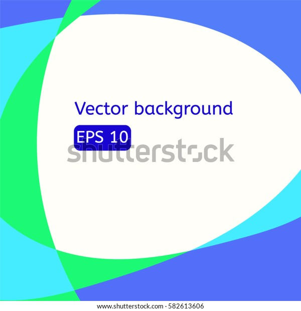 Abstract background with color lines in frame eps10