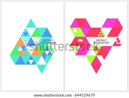 abstract background color triangles template flyers stock vector