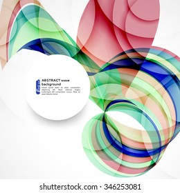 Abstract background with color waves. Can be used for business presentations, flyer, website background, brochure cover