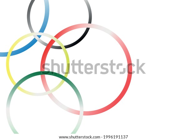 Abstract background with colored rings.