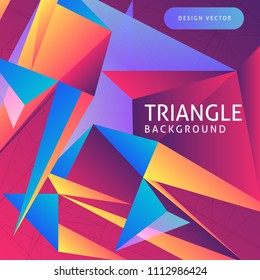 abstract background of colored triangles