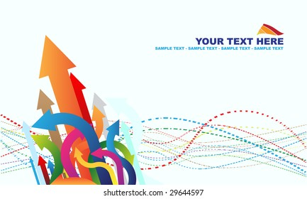 Abstract background and colorful arrows
