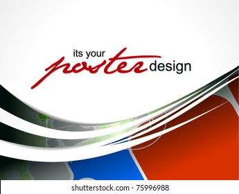Abstract background with colorful design for text project used, vector illustration.