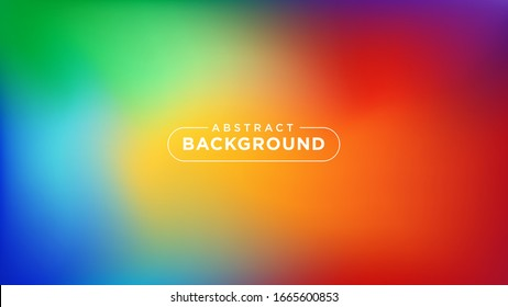 Abstract Background. Colorful Gradient Mesh with Blurred Rainbow Colors. Vector Illustration.