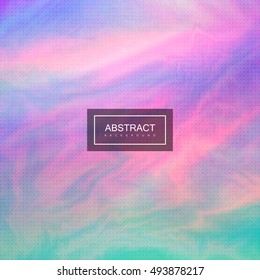 Abstract background with colorful iridescent moire texture. Vector artistic illustration of iridescent oil painting or marbling imitation. Applicable for poster, brochure, cover, banner designs
