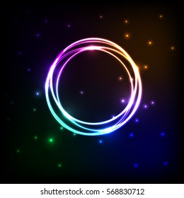 Abstract background with colorful plasma, stock vector