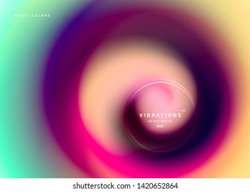 Abstract background with colorful smooth flow of colors. Beautiful blurred backdrop with amazing fluid gradient. Liquid design in trendy colors with gradual blend between shades. Vector illustration
