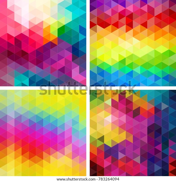 Abstract Background Colorful Texture Figures Triangles Stock ...