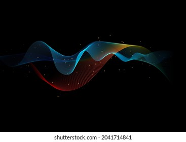 Abstract background with a colourful flowing lines design