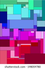 Abstract background composed of colored rectangles