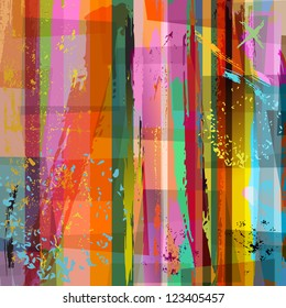 abstract background composition, with strokes and splashes, halftone
