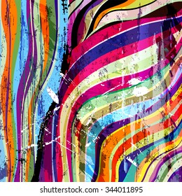 abstract background composition, with waves, paint strokes and splashes