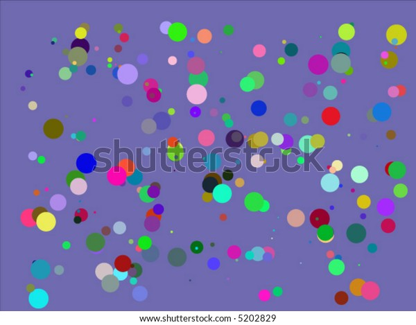 Abstract background with concentric circles in different cool colors (vector)
