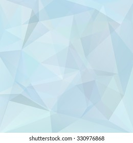 abstract background consisting of light blue triangles, vector illustration