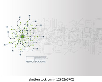 Abstract background cover design with chaotic dots and line, biomolecular DNA structure, cover design with futuristic backdrop, modern brochure with triangles, biology and chemistry web page layout