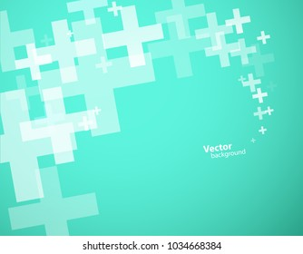 Abstract background created with plus sign.