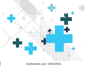 Abstract background created with plus sign. Vector illustration.