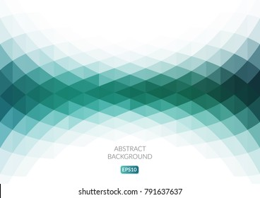 Abstract background with curved geometric shapes. Fresh shades of green.