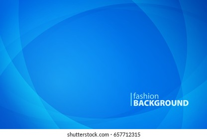 Abstract background of curved lines in blue colors with empty space to enter your text. Curvaceous lines with blur gradient effect. Vector illustration