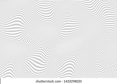 Abstract background, curved lines, shades of gray. Vector design.