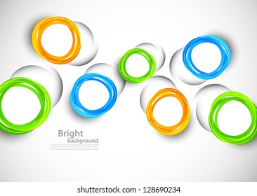 Abstract background with cut out colorful circles