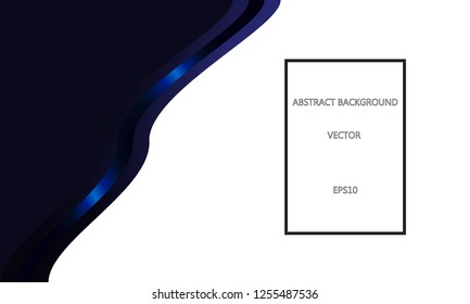 Abstract background with dark blue ribbon