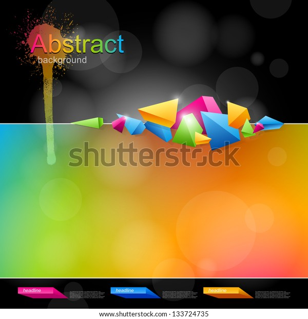 Abstract background for design with bright colors and abstract forms