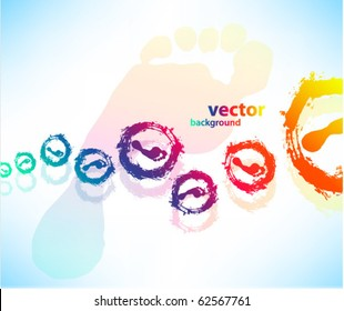 Abstract background for design, footprints