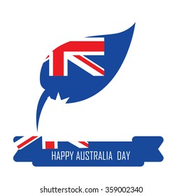 Abstract background design for Happy Australia Day.26 January of Australia day. Leaves shape flag.