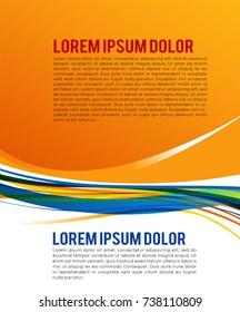 Abstract background for design - Illustration business poster, magazine cover, design layout template