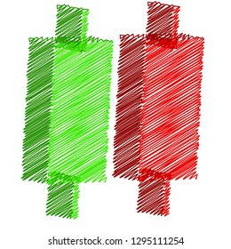 An abstract background design Japanese Candlestick stock chart.