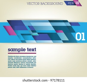 Abstract background design template / blue design on gray background