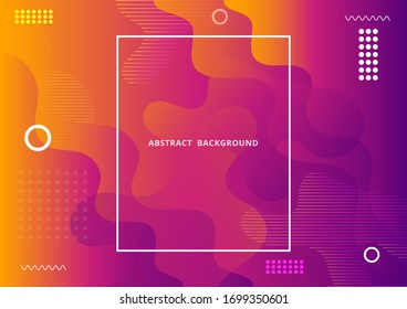 Abstract background for design, Vector and illustration. Fluid gradient liquid abstract geometric shapes banner.