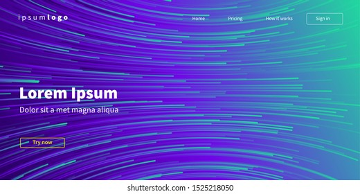 Abstract background design Wavy lines in perspective Technology, science, future style design. Eps10 vector.
