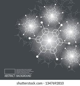 Abstract background dna molecule medicine science
