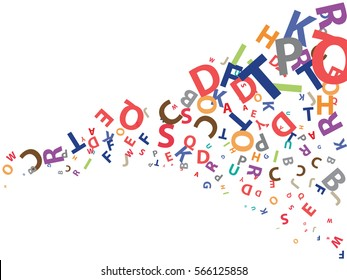 abstract background for documents from the letters of the English alphabet
