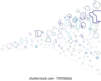 Abstract background for documents on a theme winter clothes. Color vector illustration of a sweater, boots, mittens, coat, hat, jacket, socks.