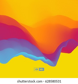 Abstract Background. Dynamic Effect. Futuristic Technology Style. Motion Vector Illustration.
