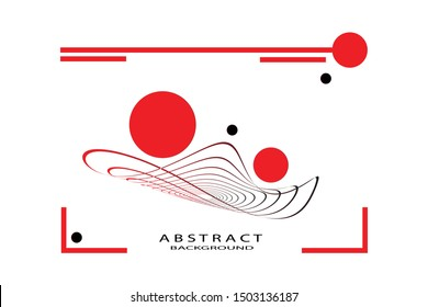 Abstract background with dynamic linear waves. Vector illustration in flat minimalistic style