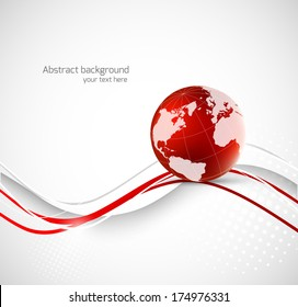 Abstract background with earth